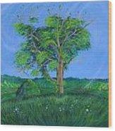 Pleasant Township Tree Wood Print