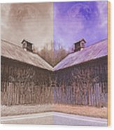 Pleasant View Country Barns Wood Print
