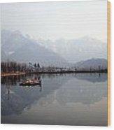 Pleasant View Of Dal Lake- Kashmir- India- Viator's Agonism Wood Print by Vijinder Singh