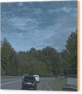 Pleasure Drive Paris Roads Tree Line And Wonderful Skyview Wood Print