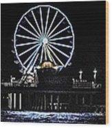 Pleasure Pier Ferris Wheel Wood Print