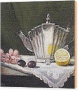 Pleated Teapot With Lemon Wood Print