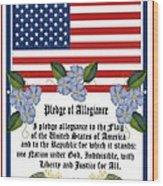 Pledge Of Allegiance Wood Print by Anne Norskog