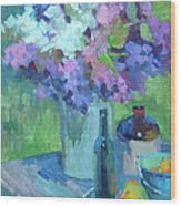 Plein Air Lilacs Wood Print