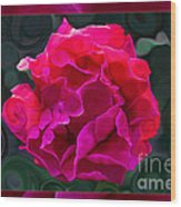Plentiful Supplies Of Pink Peony Petals Abstract Wood Print