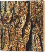 Plenty Of Small Dried Fishes On A Stack Wood Print