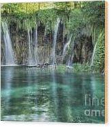 Plitvice Falls Wood Print