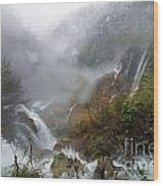 Plitvice Lakes In Winter 4 Wood Print