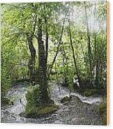 Plitvice Lakes Wood Print