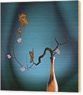 Plum 1 Wood Print by GuoJun Pan