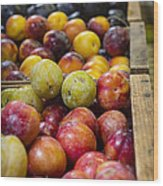Plum Gorgeous Wood Print by Caitlyn  Grasso