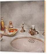 Plumber - First Thing In The Morning Wood Print by Mike Savad