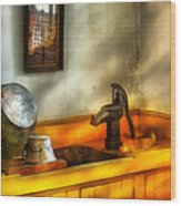 Plumber - The Wash Basin Wood Print