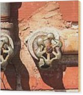 Plumbing And Mortar Wood Print by Douglas Barnett
