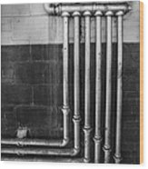 Plumbing Symmetry Wood Print