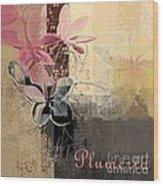 Plumeria - 64-115152167m4t3b Wood Print