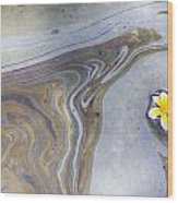 Plumeria In Oil Slick- Uss Arizona Memorial Shipwreck Site Wood Print