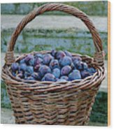 Plums In A Basket, Southern Bohemia Wood Print