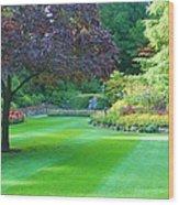 Plush Landscape Bucshart Gardens Wood Print