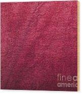 Plush Red Texture Wood Print