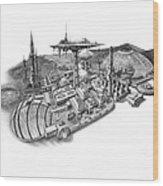 Pluto City Wood Print