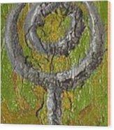 Pluto Glyph Wood Print