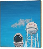 Pluto Wood Print by Scott Listfield