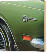 Plymouth Barracuda 340-s Emblem Wood Print