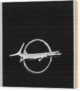 Plymouth Barracuda Emblem -0054bw Wood Print