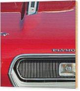 Plymouth Barracuda Grille Emblem Wood Print