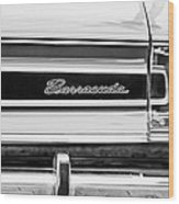 Plymouth Barracuda Taillight Emblem -0711bw Wood Print