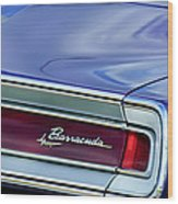 Plymouth Barracuda Taillight Emblem Wood Print