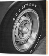 Plymouth Cuda Rallye Wheel Wood Print by Paul Velgos