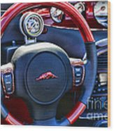 Plymouth Prowler Steering Wheel Wood Print