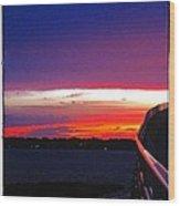 Pn Sunset Wood Print
