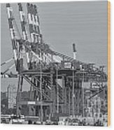 Pnct Facility In Port Newark-elizabeth Marine Terminal II Wood Print
