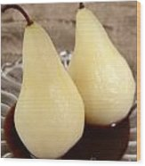Poached Pear  Wood Print