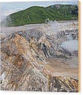 Poas Volcano Crater Wood Print