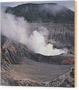 Poas Volcano National Park Costa Rica Wood Print