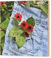 Pocket Full Of Posies Wood Print