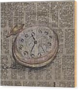 Pocket Watch Wood Print
