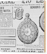 Pocket Watches, 1888 Wood Print