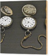 Pocket Watches Wood Print