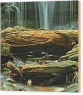 Poconos Cascades Wood Print