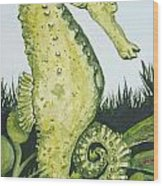 Pod Seahorse Wood Print