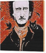 Poe Poe Wood Print by Tyler Schmeling