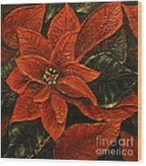 Poinsettia 2 Wood Print