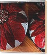 Poinsettias - Handmade - Crafts - Pumpkins Wood Print
