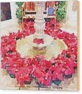 Poinsettias Wood Print