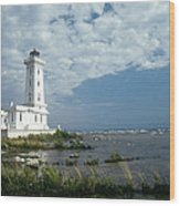 Point Abino Lighthouse Wood Print